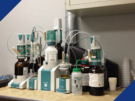 Lab equipment used in Fabick's state-of-the-art lab for development of new products.