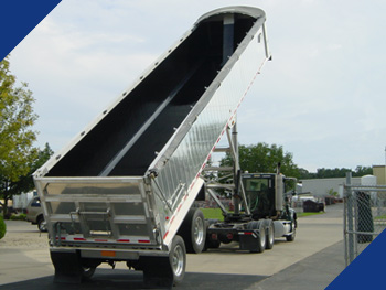 A Fabick coating applied to a dump trailer for protection and increase release.