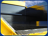 Fabick Poured-On® Liner applied to a dump truck box.
