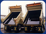 Fabick Poured-On® Liner applied to municipality dump trucks.