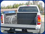Fabick Poured-On® Liner used to protect the bed of a pickup truck.