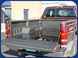 Fabick sprayed-on liner applied oto a pickup truck.