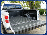Fabick sprayed-on bedliner applied to a pickup truck.